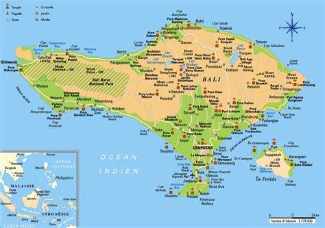 carte de bali bali map