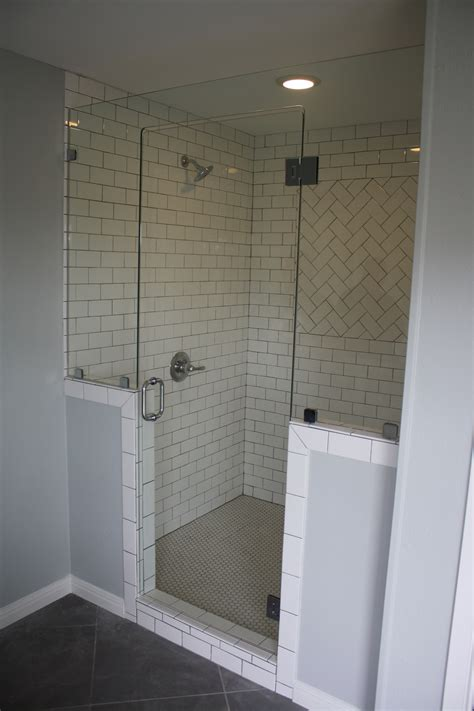 small bathroom mirrors hgtv s fixer frameless glass shower enclosure by