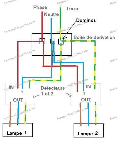 question forum 201 lectricit 233 probl 232 me branchement 2 d 233 tecteurs de pr 233 sence en parall 232 le