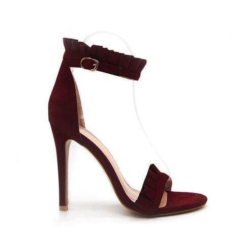 Fashion Women's Ankle Strap High Thin Heels - Purple,Pink ...