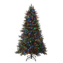 shop holiday living 7 5 ft 2974 count pre lit mansfield artificial christmas tree with multi
