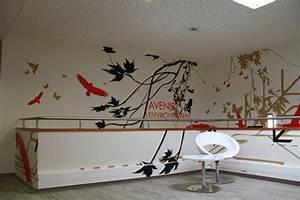 Adhesif Mural En Relief : un nouveau design mural en adh sif pour coliposte une ~ Premium-room.com Idées de Décoration
