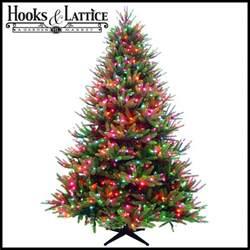 pre lit artificial christmas trees hooksandlattice com
