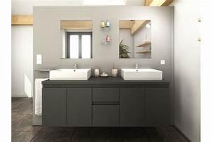 meuble de salle de bain design double vasque achat vente With meuble salle de bain design gris