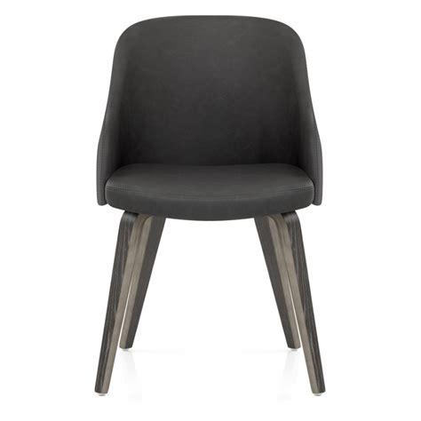 chaise cuir gris chaise faux cuir et bois fusion monde du tabouret