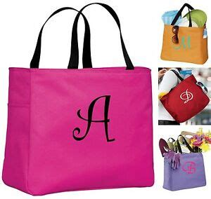 personalized monogrammed embroidered tote bridesmaid gift