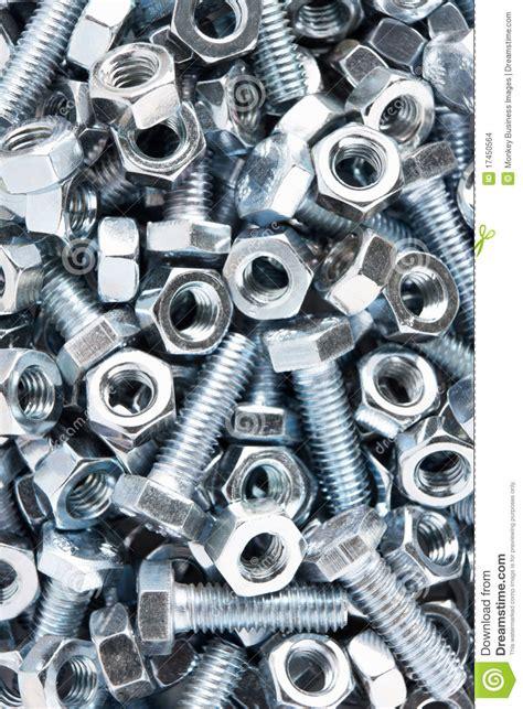 close   nuts  bolts stock photo image  studio