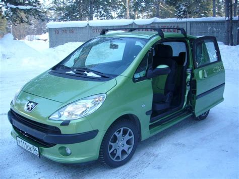 Peugeot Pronunciation by 2007 Peugeot 1007 Pictures 1400cc Gasoline Ff