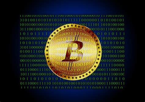 illustration bitcoin binary  null coin