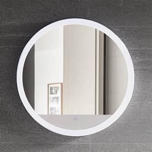 Miroir Rond Led : miroir lumineux rond avec clairage led 60 cm round ~ Teatrodelosmanantiales.com Idées de Décoration