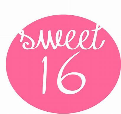 Sweet Happy Birthday 16th Clipart Sixteen Jaar