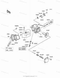 Kawasaki Atv 2006 Oem Parts Diagram For Carburetor  Parts
