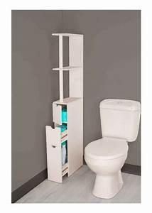 Meuble De Rangement Wc : meuble de rangement wc toilettes ou salle de bains blanc deco pinterest meuble wc ~ Teatrodelosmanantiales.com Idées de Décoration