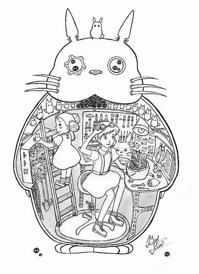 Ghibli Coloring Studio Totoro Miyazaki 2768 Unique
