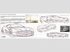 20092011 Aston Martin coupe sketches by Rollo Dixon at