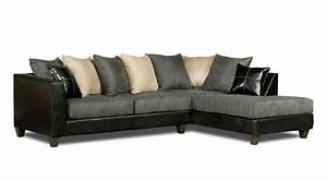 Sofa beds design best ancient black suede sectional sofa for Microfiber recliner sectional sofa couch chaise