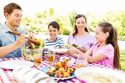 Together Meals Eating Dinner Outside Meal Having