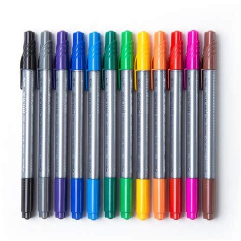 ปากกาสีน้ำ 2 หัว คละสี แพ็ค12ด้าม นานมี NM-275   OfficeMate
