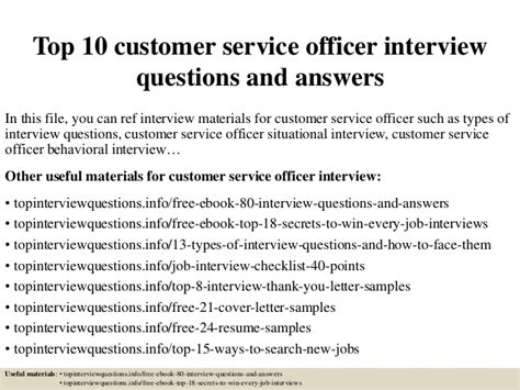 What Does Customer Service To You Answer by Top 10 Customer Service Officer Questions And