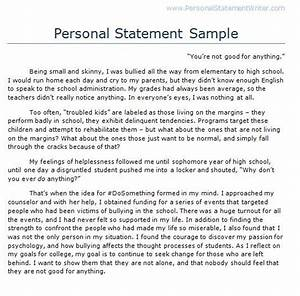 what is a personal statement for college