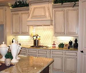 glazed white kitchen cabinets in combination with With kitchen colors with white cabinets with rustic prints wall art