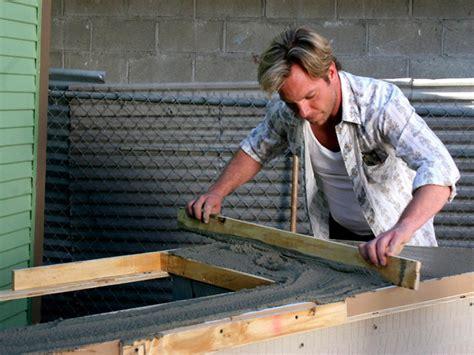 how to make an outdoor concrete countertop outdoor kitchen island with concrete countertop hgtv