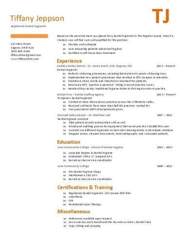Hygiene Resume Template by 1000 Images About Dental Hygiene Resumes On