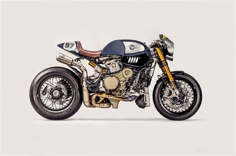 'the Blue Shark' Ducati Panigale R Cafe Racer