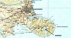 Map Of Banks Peninsula And Part Of Canterbury Showing Christchurch And