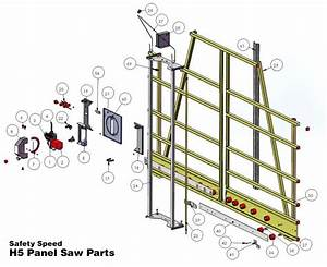 Safety Speed H5 Panel Saw Parts List And Diagram