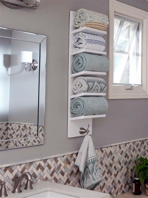 angled shelf towel rack diy