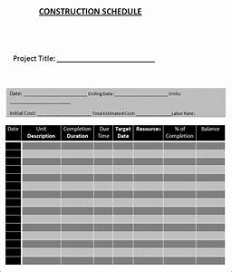 construction schedule template schedule template free With building work schedule template