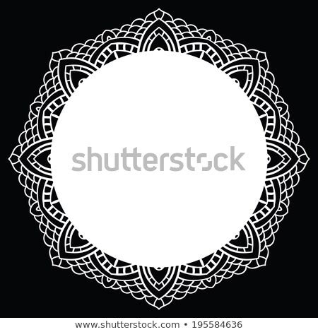 vintage handmade knitted doily  lace pattern vector