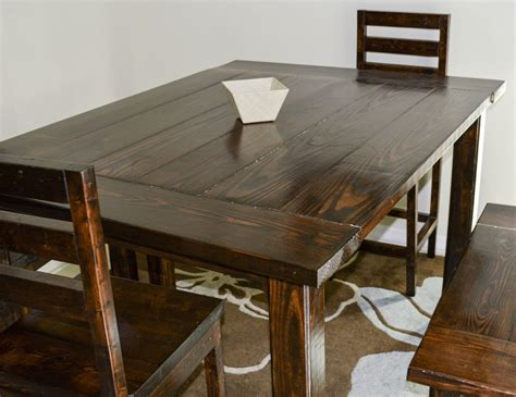 ana white counter height dining table diy projects