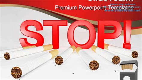 stop smoking health powerpoint templates themes
