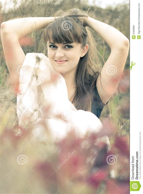 Young Woman Holding Her Hair Up Stock Image  Image 21569681