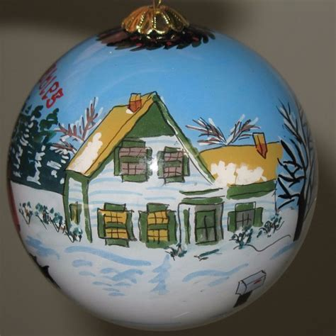 anne of green gables house hand painted christmas tree