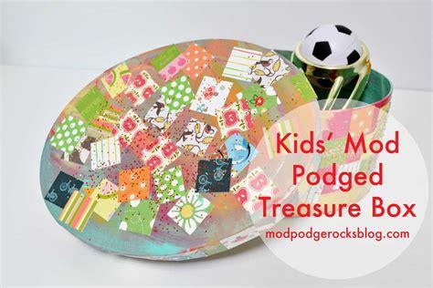 diy mod podged kids treasure box