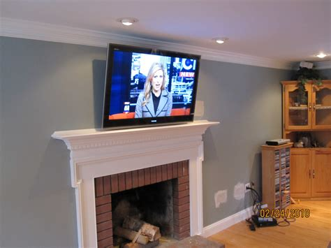 Durham Ct Mount Tv Above Fireplace Richey Group Llc