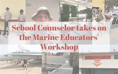 Marine Workshop Counselor Takes Educators