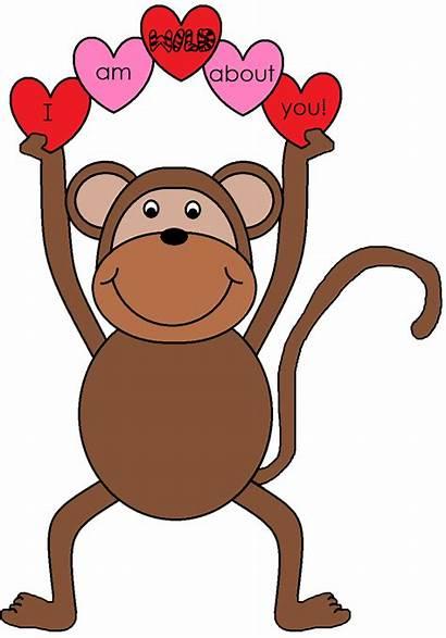 Clipart Valentine Monkey Clip Sock Valentines Graphics