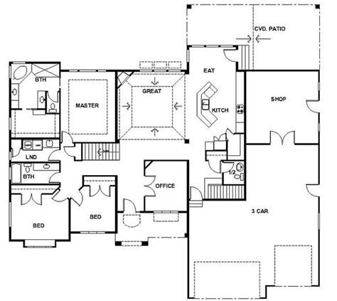 rambler house plans  basements panowa home plan rambler house plans davinci homes