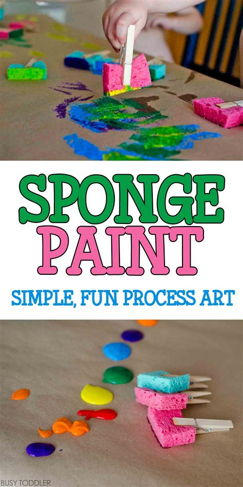 sponge painting process busy toddler 707 | 667187486001690f16c61a163e40762a