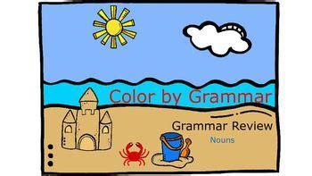 color  grammar interactive notebook  worksheet noun