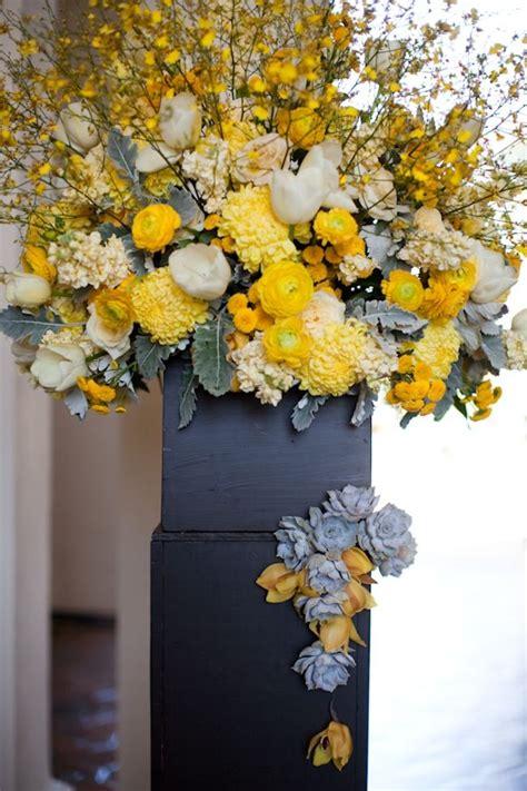 yellow flower centerpieces ideas  pinterest
