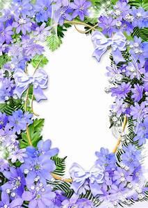 Cute Purple Flowers PNG Photo Frame | РАМКИ | Pinterest ...