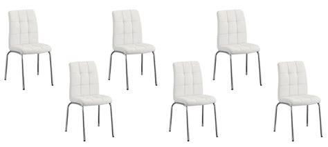 lot 6 chaises blanches vente de chaises capitonnée par lot de 6 garantie 2 ans