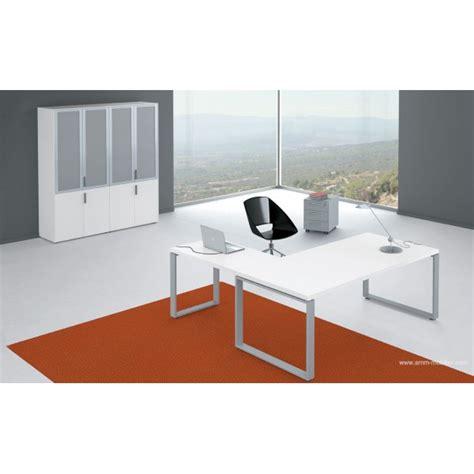 bureau de direction blanc bureau de direction archimède finition mélaminé blanc par alea