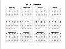 Weekly Calendar 2018 calendar printable free