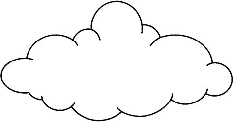 cloud clipart black and white cloud outline clipartion